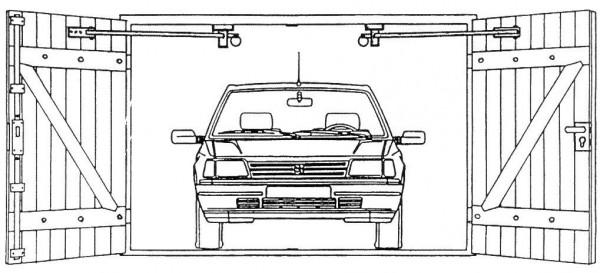 Garagentorfeststeller TFS 85 links / rechts