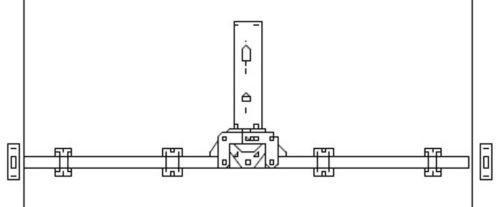 GSGPV2W Garagentorbeschlag 2 Punktverriegelung