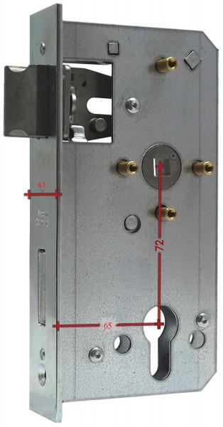 BV500P4 Schloß einzeln Dornmaß 65 4 Hülsen
