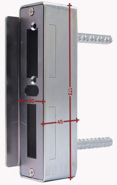 SK753530MV Gegenkasten 30mm Rohr 30x45x173 mit Anker 364 verzinkt