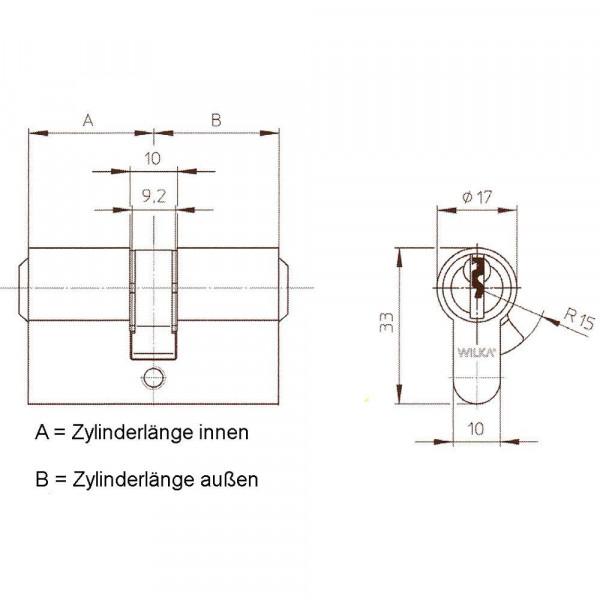 WI23045 Not&Gefahrenzylinder WILKA 6stiftig