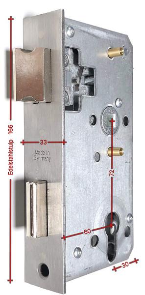 BV460PE Ersatzschloss 72 Dorn 60 für Rohr 40mm ED