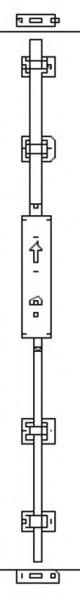GSGPV2 Garagentorbeschlag 2 Punktverriegelung
