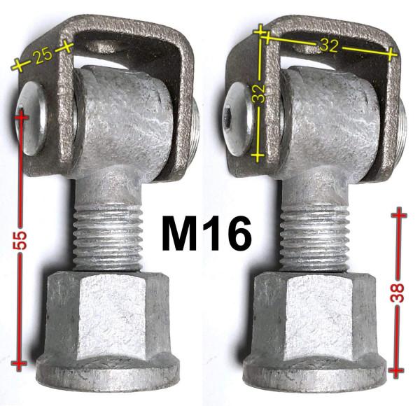POTB162C M16 Torband mit Einschweißmutter 1 Paar