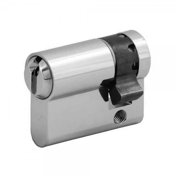 WI11075 Halbzylinder WILKA 6stiftig mattvernickelt