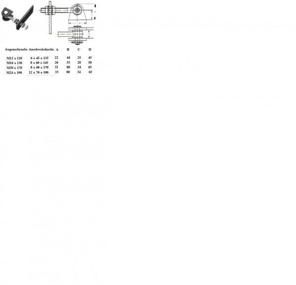 POTB161-P M 16 G BED Poll Torband 2-fach