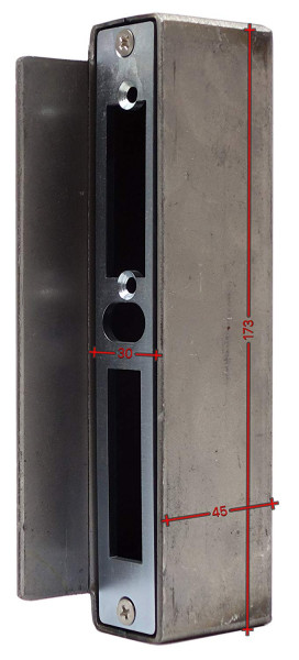 SK753430 Gegenkasten, ohne Anker 30 mm 45x173mm eisenroh