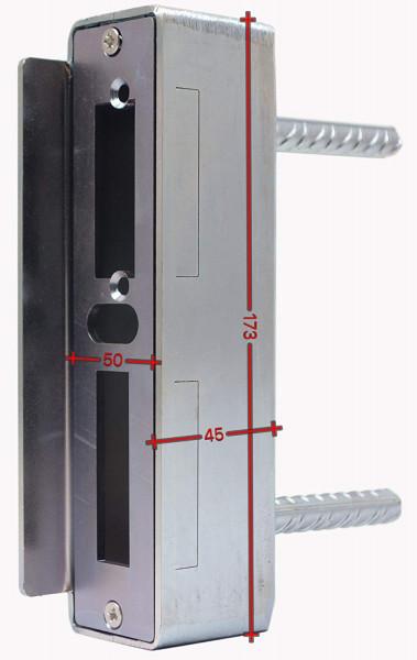SK753550MV Gegenkasten 50mm Rohr 50x45x173 mit Anker eisenroh