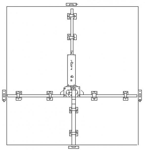GSGPV4 Garagentorbeschlag 4 Punktverriegelung