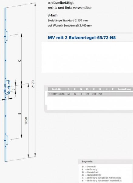 GSG20726508 MV 20 / 72 / 65 / 08 KFV Maße 11-91011-0608