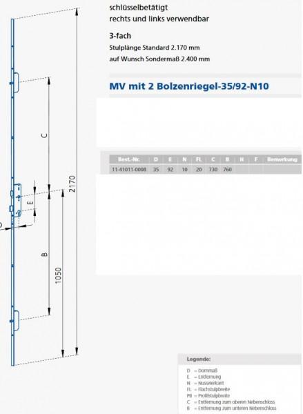 GSG20923510 MV 20 / 92 / 35 / 10 KFV Maße 11-41011-0008